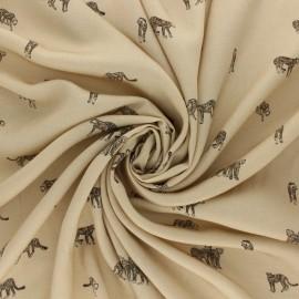 Tissu viscose Jardin des plantes - noir x 10cm