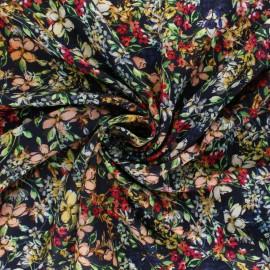 Patterned viscose Fabric - Beige les guépards x 10cm