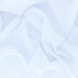 Lurex crinkle viscose voile Fabric - white x 10cm