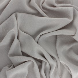 Lurex crinkle viscose voile Fabric - grey x 10cm