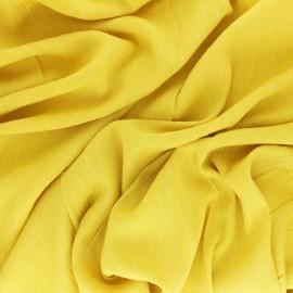 Tissu voile de viscose froissé lurex - jaune x 10cm