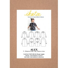 Blouse or Dress Sewing pattern - Ikatee Alex