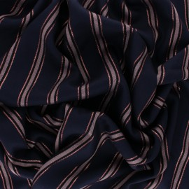 Tissu viscose Working Girl - bleu nuit x 10cm
