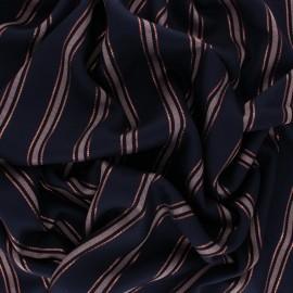 Viscose Fabric - blue Working Girl x 10cm