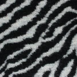 Tissu lainage Zebba - noir x 10 cm