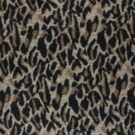 Tissu lainage Leolap - marron x 10 cm