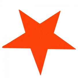Star iron-on applique - fluorescent orange