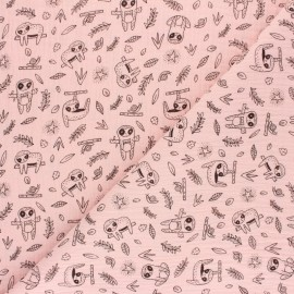 Poppy Double gauze cotton fabric - pink Printemps x 10cm