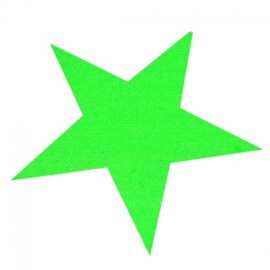 Star iron-on applique - fluorescent green
