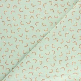 Tissu double gaze de coton Poppy Pretty rainbow - Vanille x 10cm
