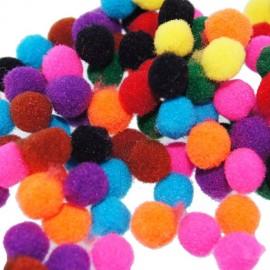 Lot de pompons multi petits 8mm