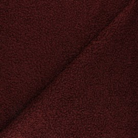 Curly Wool fabric - Wine Vino x 10 cm