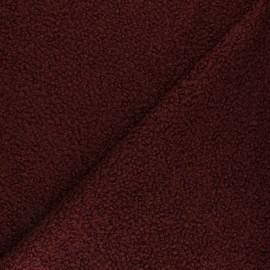 Tissu lainage bouclette Vino - bordeaux x 10 cm