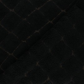 Curly Wool fabric - Black Diamanto x 10 cm