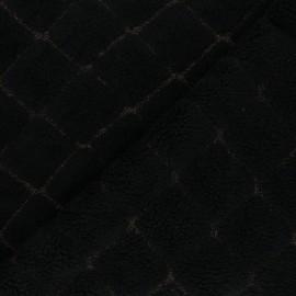 Tissu lainage bouclette Diamanto - noir x 10 cm