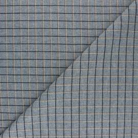 ♥ Coupon 170 cm X 150 cm ♥ Thin Wool fabric -  Grey Mattonella
