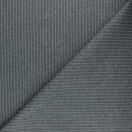 ♥ Coupon 220 cm X 150 cm ♥  Thin Wool fabric -  Grey Mattonella