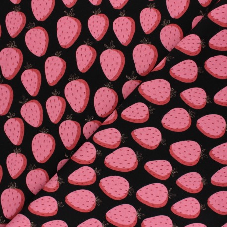 Tissu sweat léger Poppy Gentle Panda - gris x 10cm