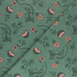 Tissu jersey Poppy Baby fox - vert x 10cm