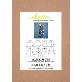 Blouse/Dress Sewing pattern - Ikatee Alex Mum