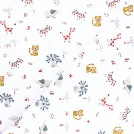 Tissu jersey Poppy You are unique - écru chiné x 10cm