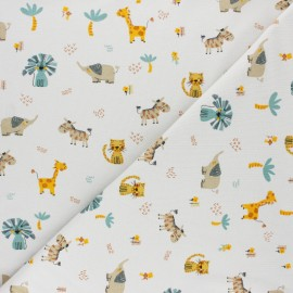 Poppy Jersey fabric - white Savannah x 10cm
