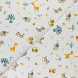 Tissu jersey Poppy Savannah - blanc x 10cm
