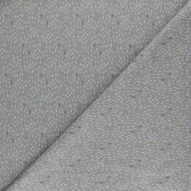 Tissu jersey Poppy Dash Rain - gris x 10cm