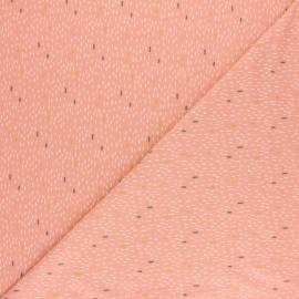 Tissu jersey Poppy Dash Rain - moutarde x 10cm