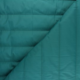 ♥ Coupon 15 cm X 150 cm ♥ Plain nylon quilted lining fabric - petrol