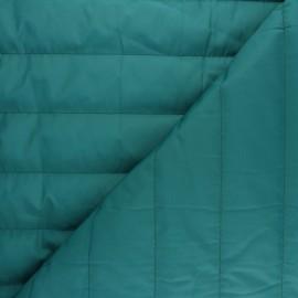 ♥ Coupon 15 cm X 150 cm ♥ Tissu matelassé nylon doudoune uni - pétrole