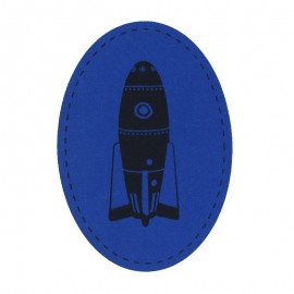 Jersey Iron On Knee and Elbow Pads - Blue Rocket