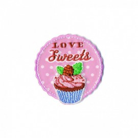 Love Food Iron-On Patch - Cupcake