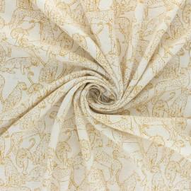 Tissu lin et viscose Printemps - naturel x 10cm
