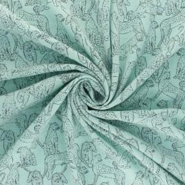 Linen and viscose fabric - Natural Guépard x 10cm