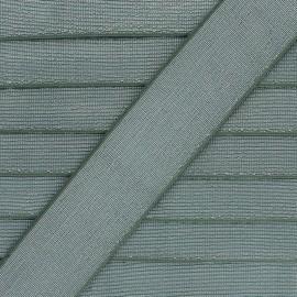 40 mm Flat Lurex Elastic - Khaki Brillance x 1m
