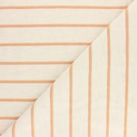 Tissu polyviscose élasthanne Marissa - écru/orange x 10cm