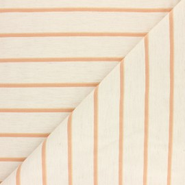 Polyviscose elastane fabric - Orange/raw Marissa x 10cm
