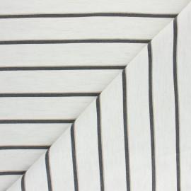 Polyviscose elastane fabric - black/raw Marissa x 10cm