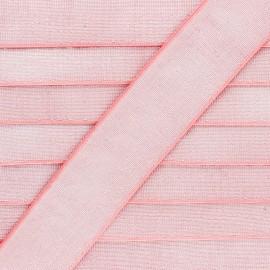 40 mm Flat Lurex Elastic - Coral Pink Brillance x 1m