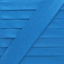 Glittery Coated Bias Binding - Blue Glow x 1m
