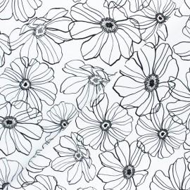 Lycra Gabardine Fabric - White Malva x 10cm