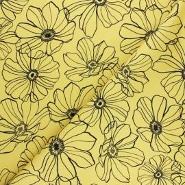 Lycra Gabardine Fabric - yellow Malva x 10cm