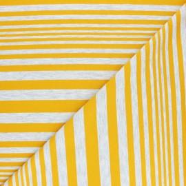 Striped Jersey fabric - navy blue Sam x 10cm