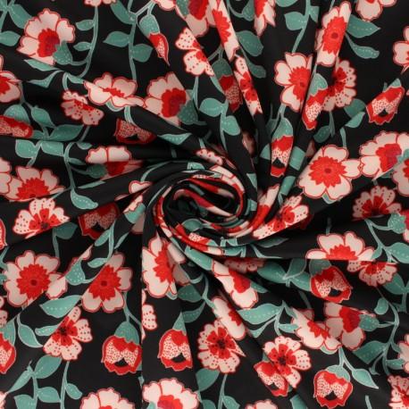 Swimsuit Lycra fabric - blue Betty x 10cm