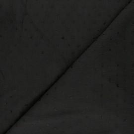 Tissu crépon de viscose plumetis - blanc x 10cm
