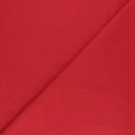 plumetis crinkle viscose Fabric - black x 10cm