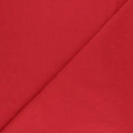 Tissu crépon de viscose plumetis - noir x 10cm