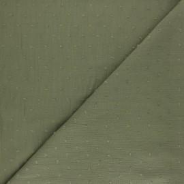 Tissu crépon de viscose plumetis - rouge x 10cm