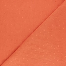 Tissu crépon de viscose plumetis - bleu marine x 10cm